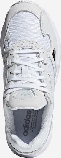 ADIDAS ORIGINALS Sneaker 'Falcon' in hellgrau / weiß: Draufsicht