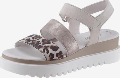 GABOR Sandale in hellgrau / weiß, Produktansicht