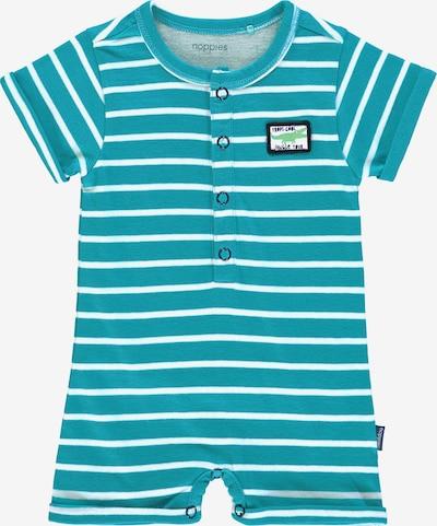 Noppies Rompertje/body 'Sheffield' in de kleur Turquoise / Wit, Productweergave