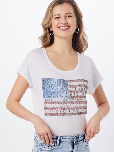 True Religion Shirt ' RELAX AMERICAN' in weiß: Frontalansicht