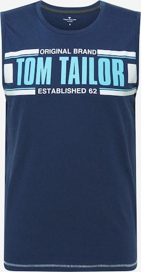 TOM TAILOR Majica | svetlo modra / temno modra / bela barva, Prikaz izdelka