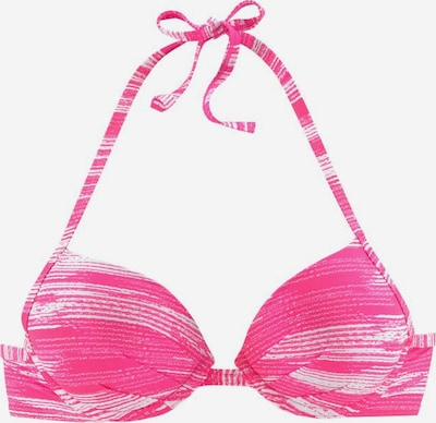 SUNSEEKER Push-up-Top 'Physical' in pink / weiß, Produktansicht