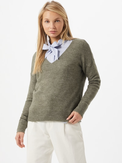JACQUELINE de YONG Pullover 'Elanora' in khaki, Modelansicht