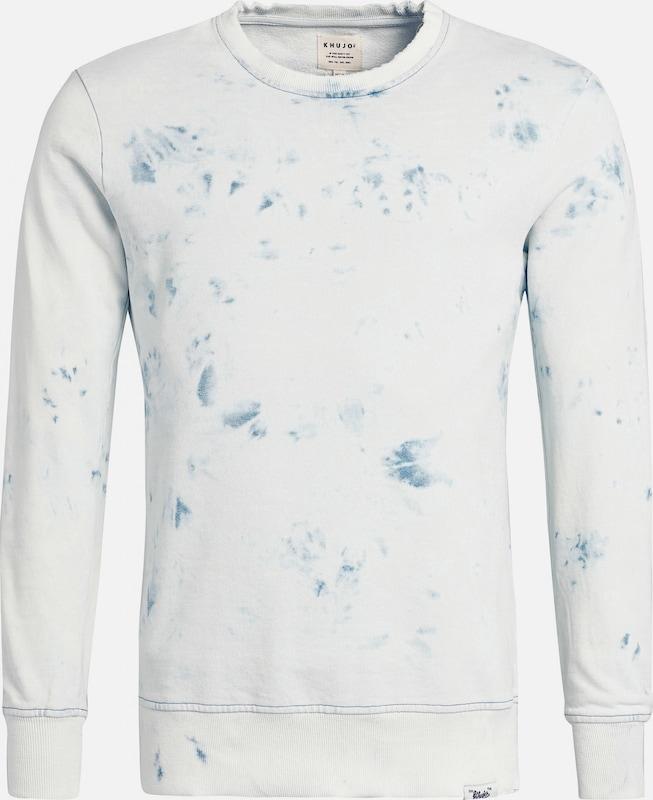 Khujo Sweatshirt ' Gerald ' in hellblau   naturweiß  Neue Kleidung in dieser Saison