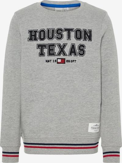 NAME IT Sweatshirt in graumeliert / schwarz, Produktansicht