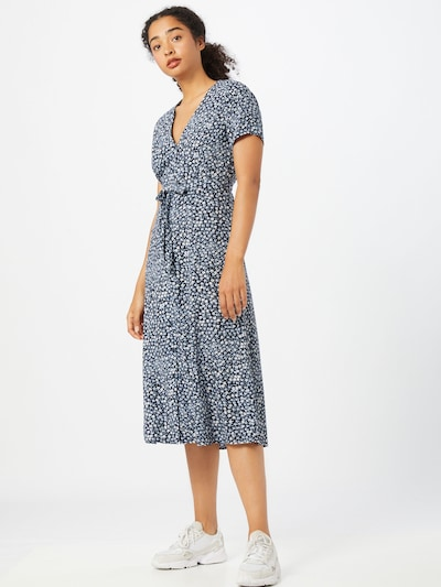 Envii Kleid 'FANDANGO' in hellblau / dunkelblau / weiß, Modelansicht