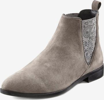 LASCANA Chelsea Boots in Grau