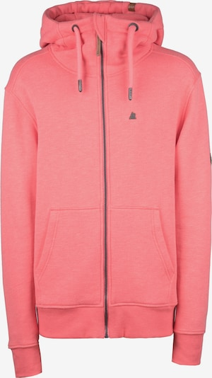 Alife and Kickin Sweatjacke 'Trasher' in pink: Frontalansicht