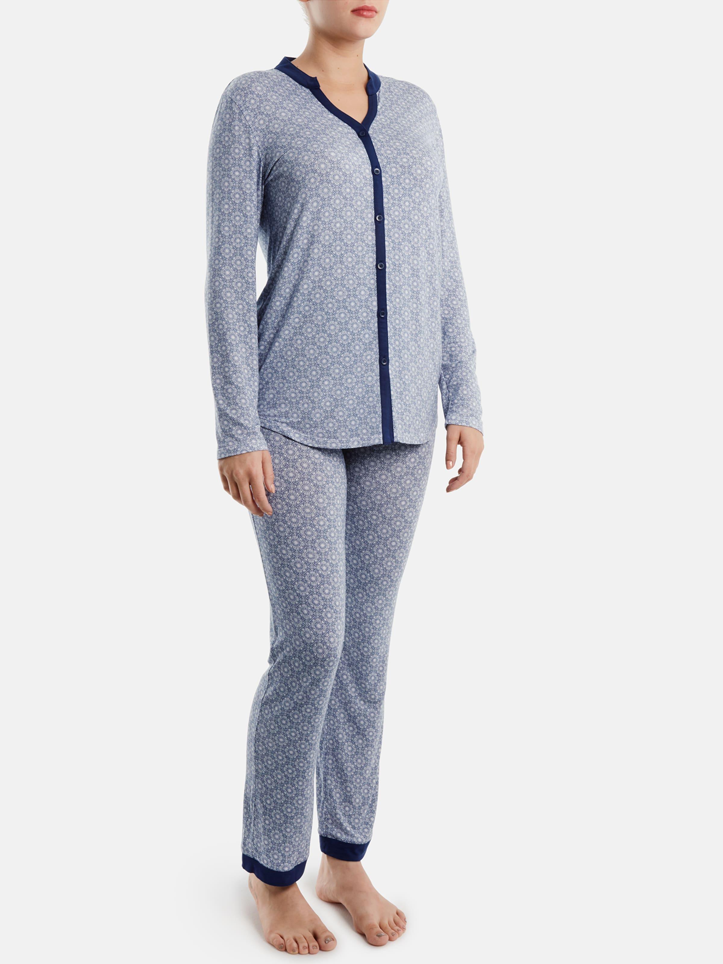 Palmers 'moroccan En Pantalon Bleu Pyjama De FoncéBlanc Nights' FKTlJc13