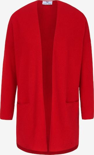Peter Hahn Long-Strickjacke Long-Strickjacke in rot, Produktansicht