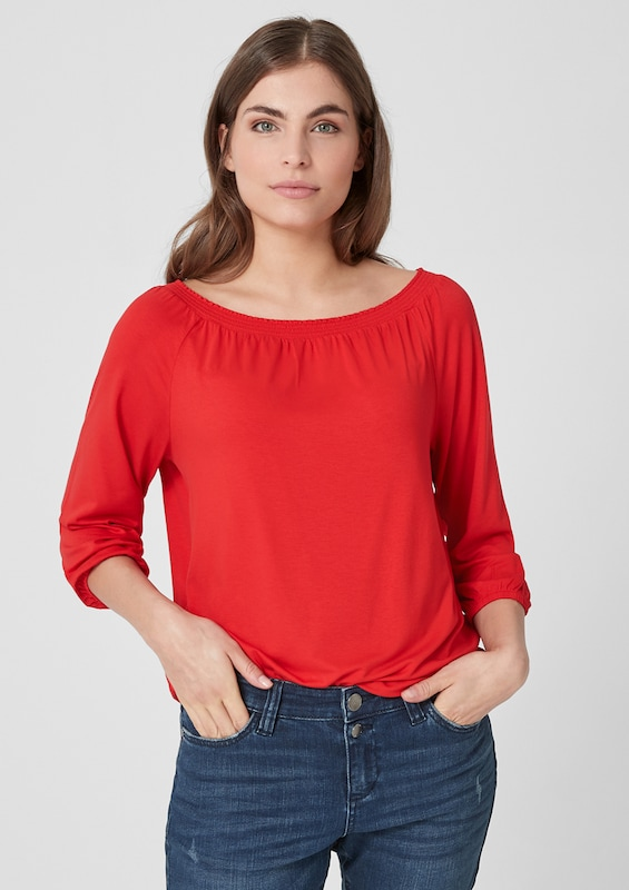 TRIANGLE Shirt in rot: Frontalansicht