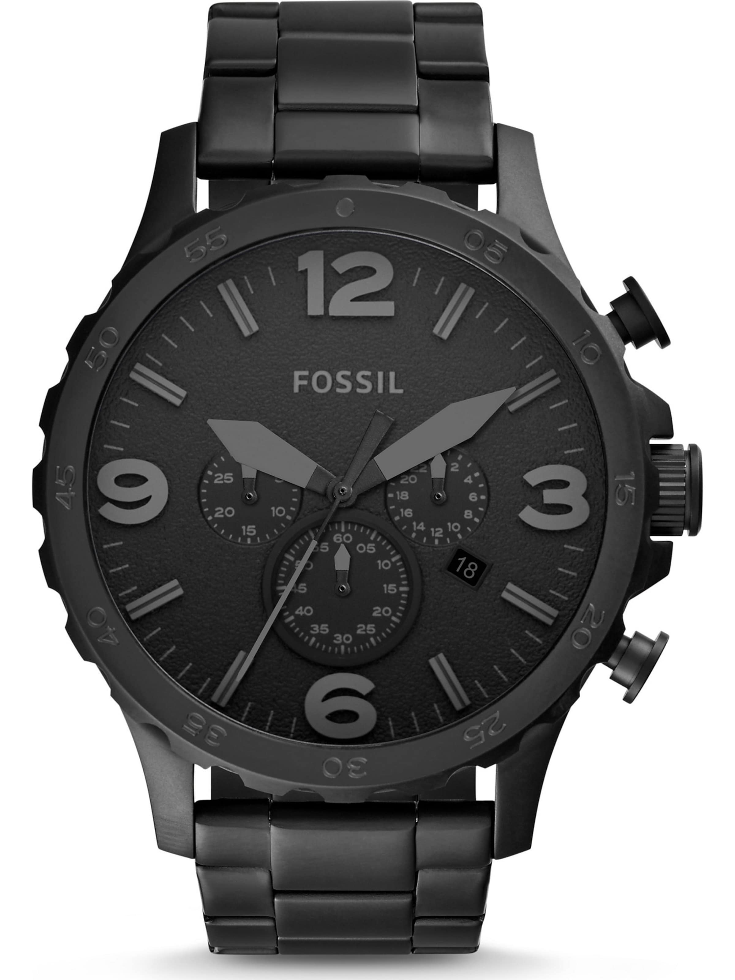 Fossil Fossil 'nate' In Fossil Chronograph 'nate' Schwarz Chronograph 'nate' In Chronograph Schwarz 0nwm8N