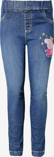 Peppa Pig Jeggings in blue denim / gelb / pink / weiß, Produktansicht