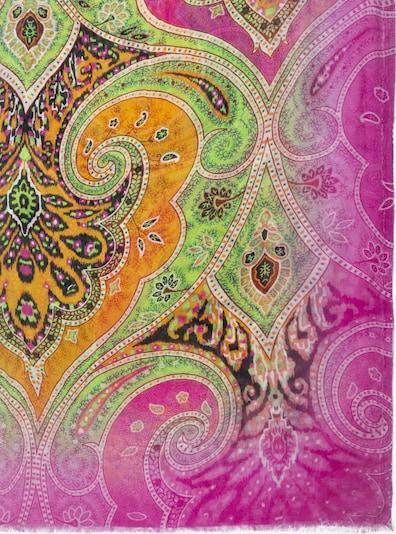 APART Schal mit Muster in limette / orange / fuchsia, Produktansicht