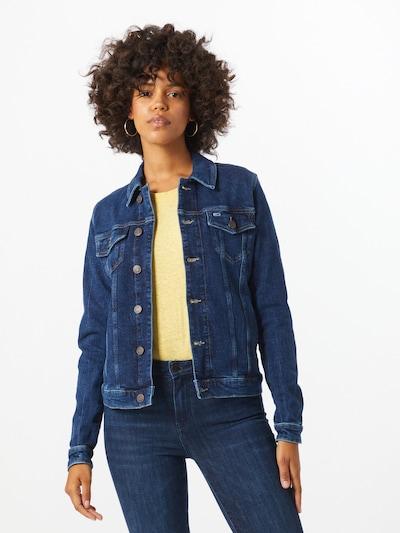 Tommy Jeans Přechodná bunda - modrá džínovina, Model/ka