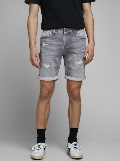 JACK & JONES Jeansshorts in grau, Modelansicht