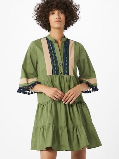 Trendyol Kleid in nude / dunkelblau / oliv, Modelansicht