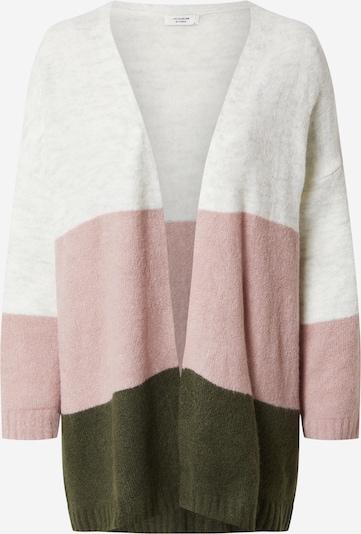JACQUELINE de YONG Kardigan 'Elanora' u siva / tamno zelena / roza, Pregled proizvoda