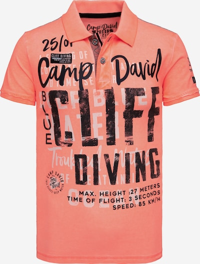 CAMP DAVID Shirt in orange / schwarz, Produktansicht