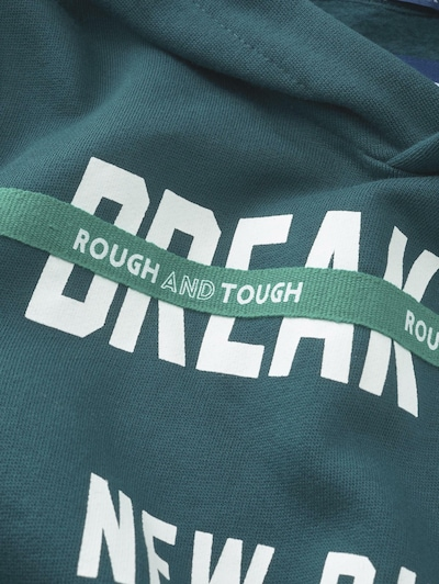 TOM TAILOR Sweatshirt in smaragd: Frontalansicht