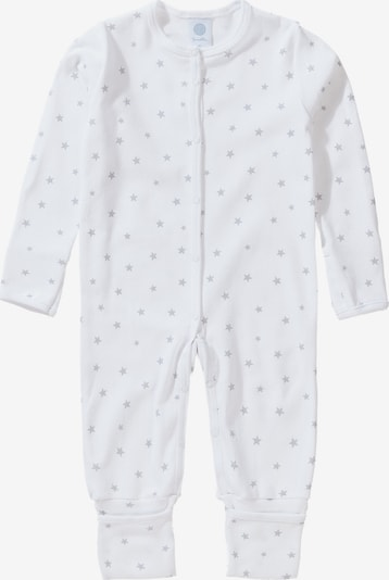 SANETTA Baby Schlafanzug in hellgrau / weiß, Produktansicht