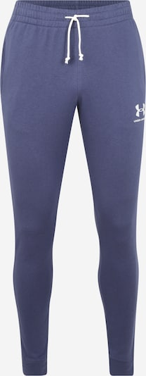 UNDER ARMOUR Sportbroek 'SPORTSTYLE TERRY JOGGER' in de kleur Blauw / Wit, Productweergave