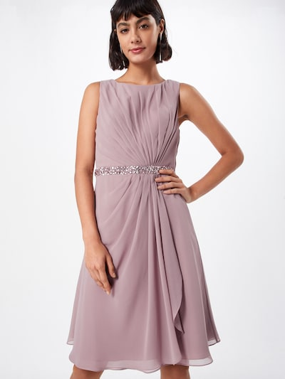 mascara Chiffonkleid 'MC181117' in mauve: Frontalansicht