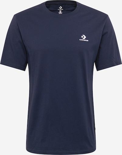 CONVERSE Tričko - námornícka modrá / biela: Pohľad spredu