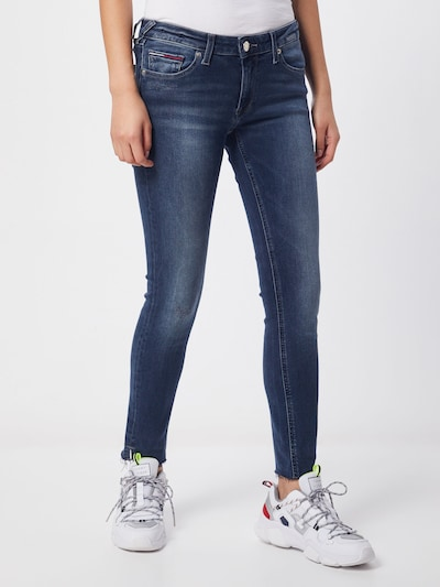 Tommy Jeans Jeans 'Sophie Low Rise Skinny Ankle' in de kleur Donkerblauw: Vooraanzicht