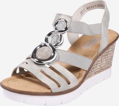 RIEKER Sandalen met riem in de kleur Lichtgrijs / Zilver, Productweergave