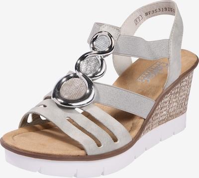 RIEKER Sandalette in hellgrau / silber, Produktansicht