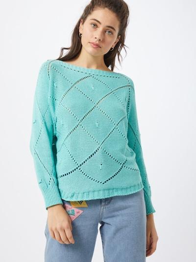 Hailys Pull-over en turquoise, Vue avec modèle