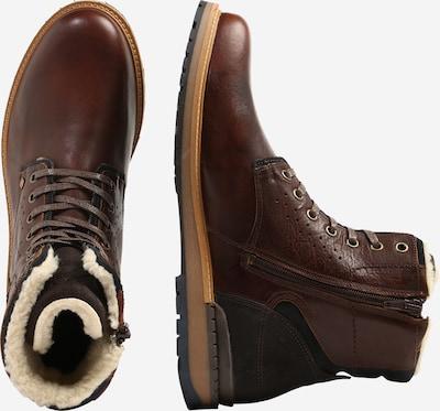 Auliniai batai su raišteliais iš BULLBOXER , spalva - rusva: Vaizdas iš šono