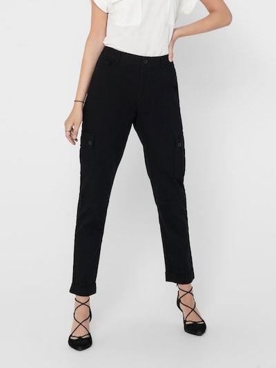 JACQUELINE de YONG Pantalon cargo en noir, Vue avec modèle