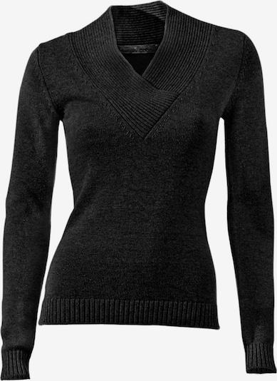 heine V-Pullover in schwarz, Produktansicht