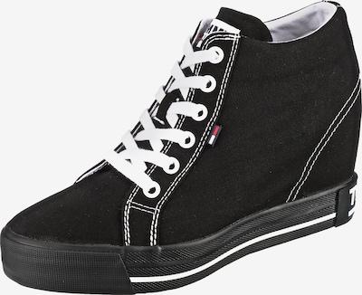 Tommy Jeans Wedge-Sneaker in schwarz / weiß, Produktansicht
