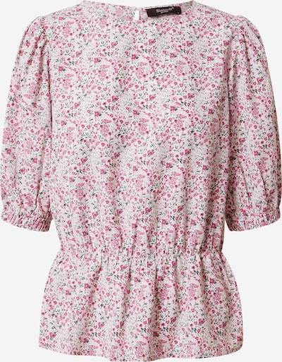 SISTERS POINT Blouse 'IMMA' in de kleur Grijs / Pink / Wit: Vooraanzicht