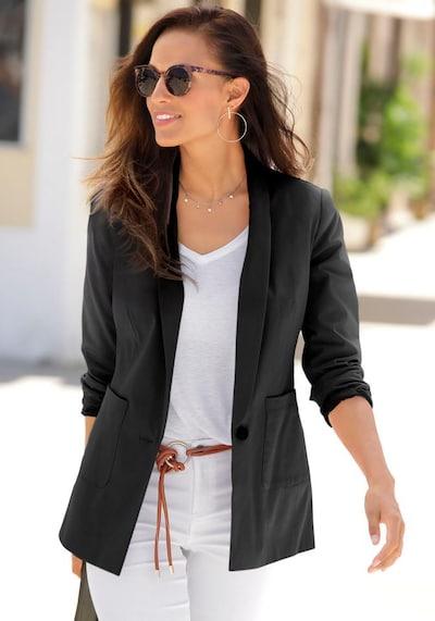 LASCANA Blazer in schwarz, Modelansicht