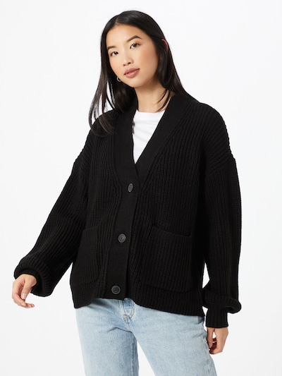 Noisy may Cardigan 'Tommy' in schwarz, Modelansicht