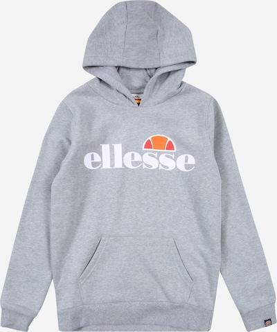 ELLESSE Sweatshirt 'Isoble' in graumeliert / rot / weiß, Produktansicht