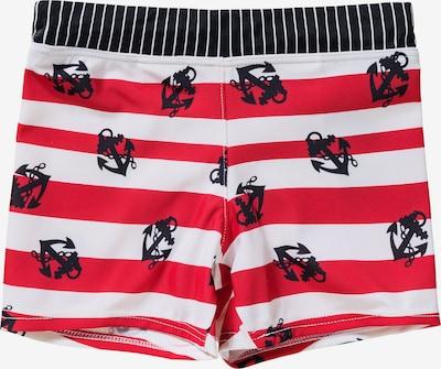 petit amour Badehose 'Florian' in rot / schwarz / weiß, Produktansicht