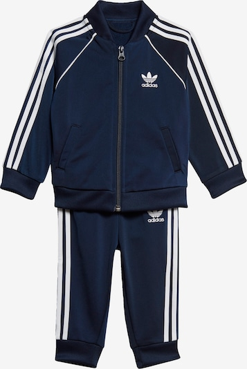 ADIDAS ORIGINALS Trainingsanzug in navy / weiß, Produktansicht