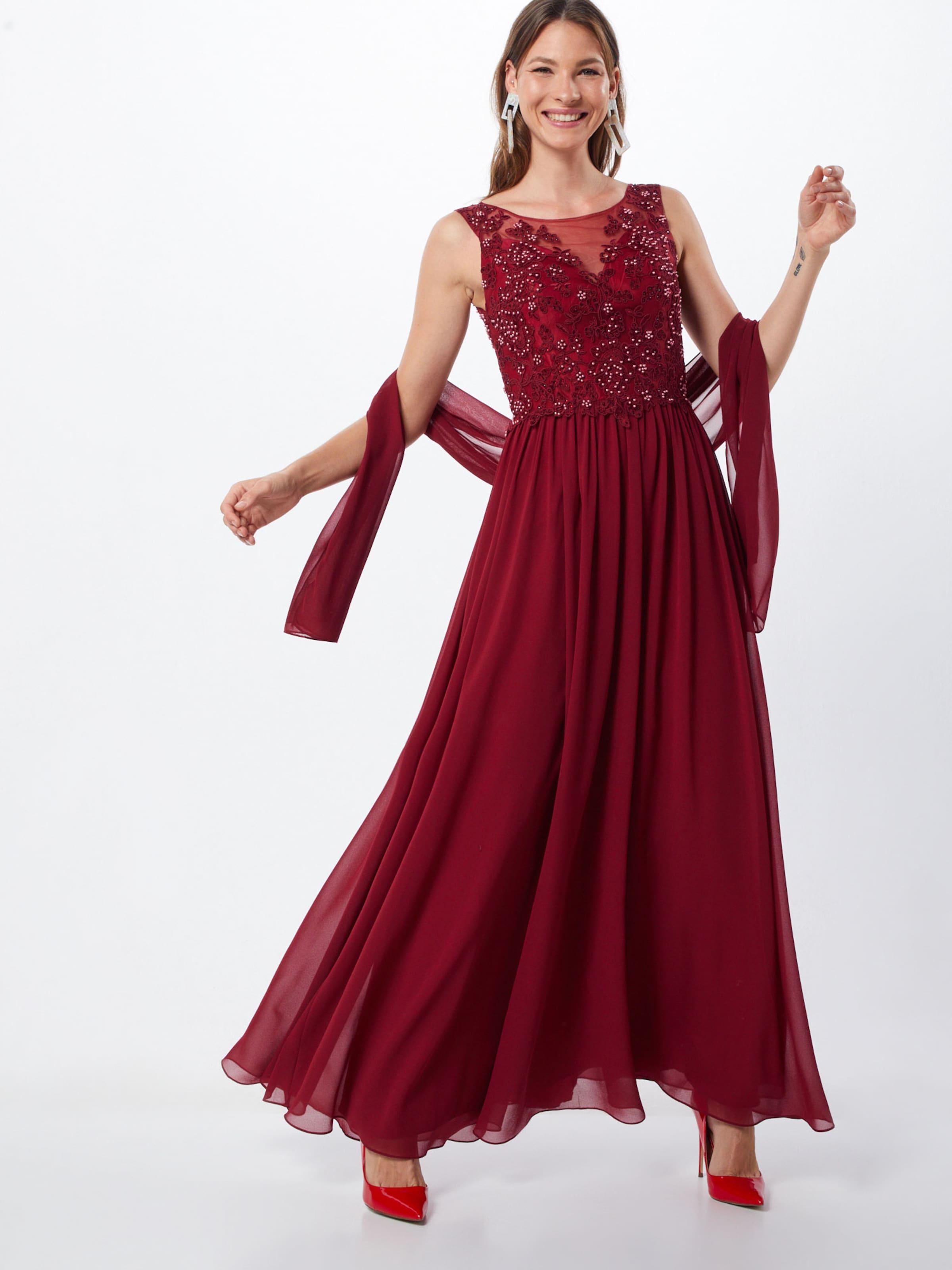 Lace' Mascara In Kleid 'beaded Weinrot SMVpzU