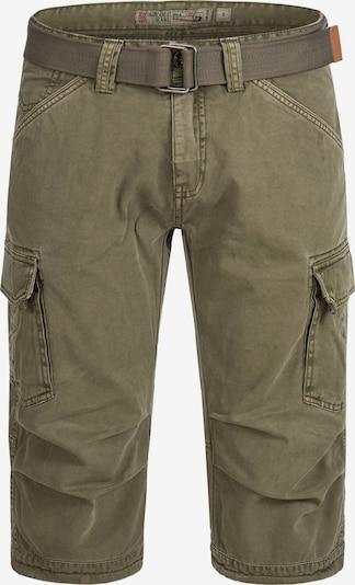 INDICODE JEANS Shorts '70-175 Nicolas Check' in khaki, Produktansicht