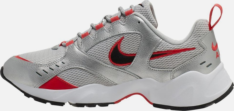 Nike Sportswear Sneaker 'Air Heights' in rot / silber: Frontalansicht