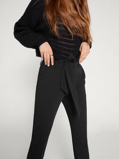 EDITED Spodnie 'Bobby' w kolorze czarnym, Podgląd na modelu(-ce)