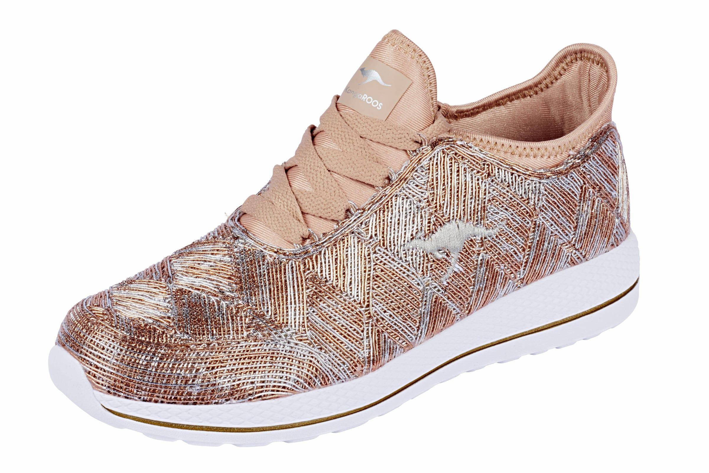 KangaROOS Sneaker mit Glanzeffekt Verschleißfeste billige Schuhe