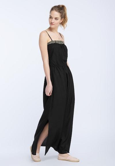 DREIMASTER Kleid in gold / schwarz, Modelansicht