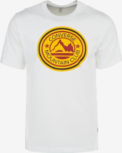 CONVERSE T-Shirt 'Mountain Club' in gelb / rot / weiß, Produktansicht