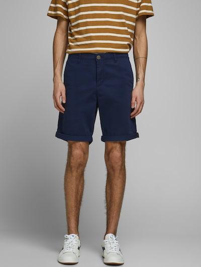 JACK & JONES Chino hlače | modra barva, Prikaz modela